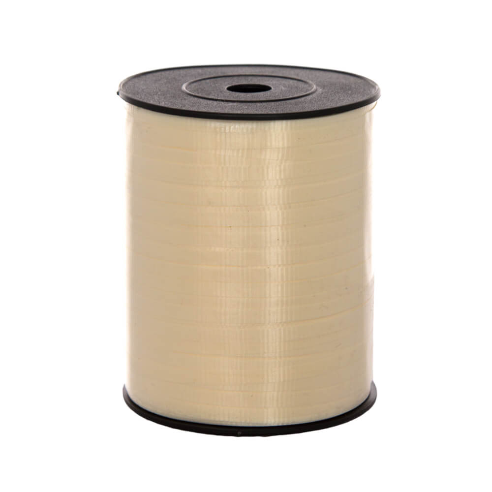 Curling Ribbon Ivory<br>5mm wide x 457m per roll