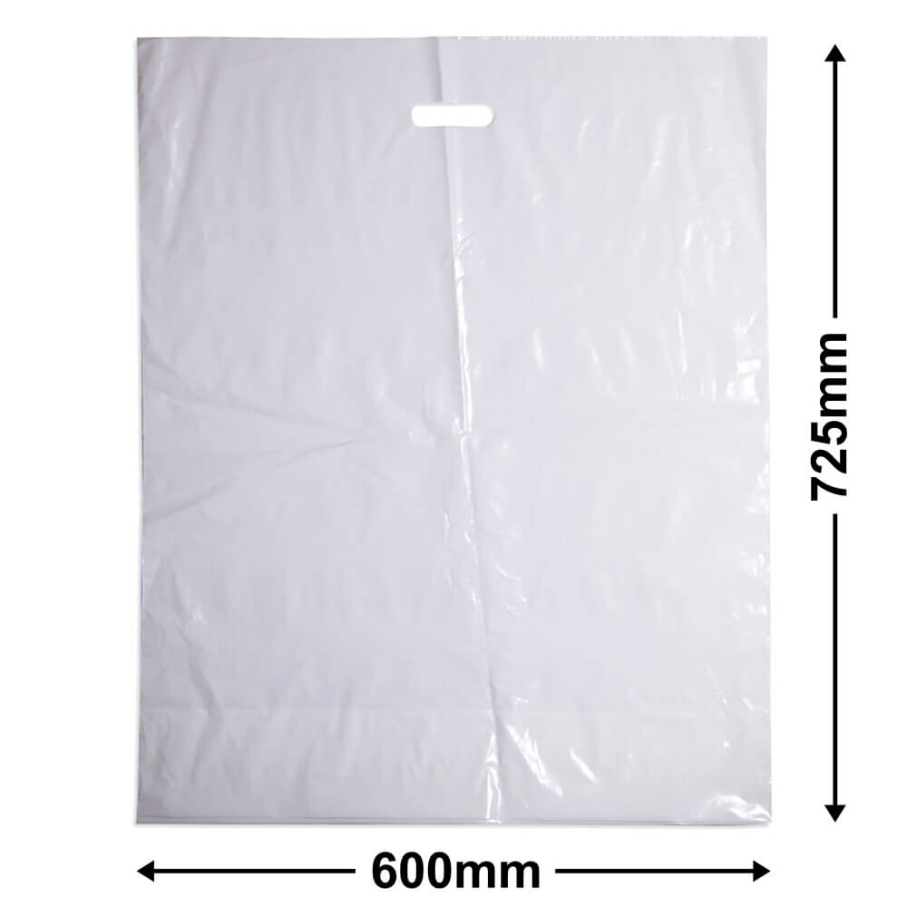 Extra Extra Large Plastic Bag<br>White + Gusset *Pack 100*