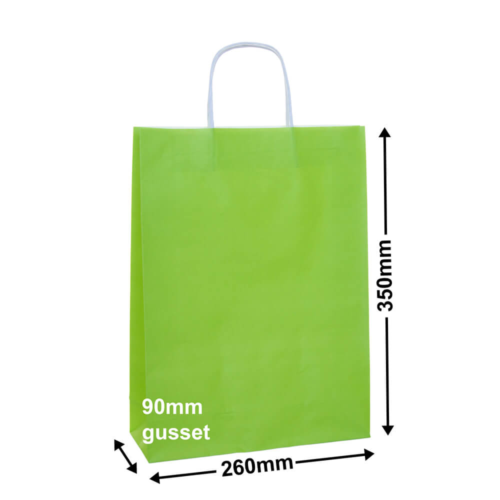 Paper Carry Bag Lime<br>260x350+90