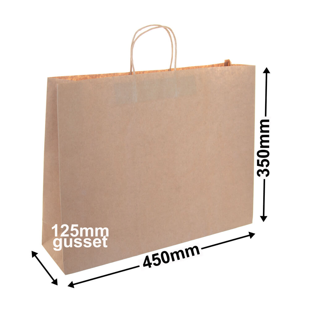 Boutique Brown Paper <br>Bag 450 x 350 - *Pack 25*