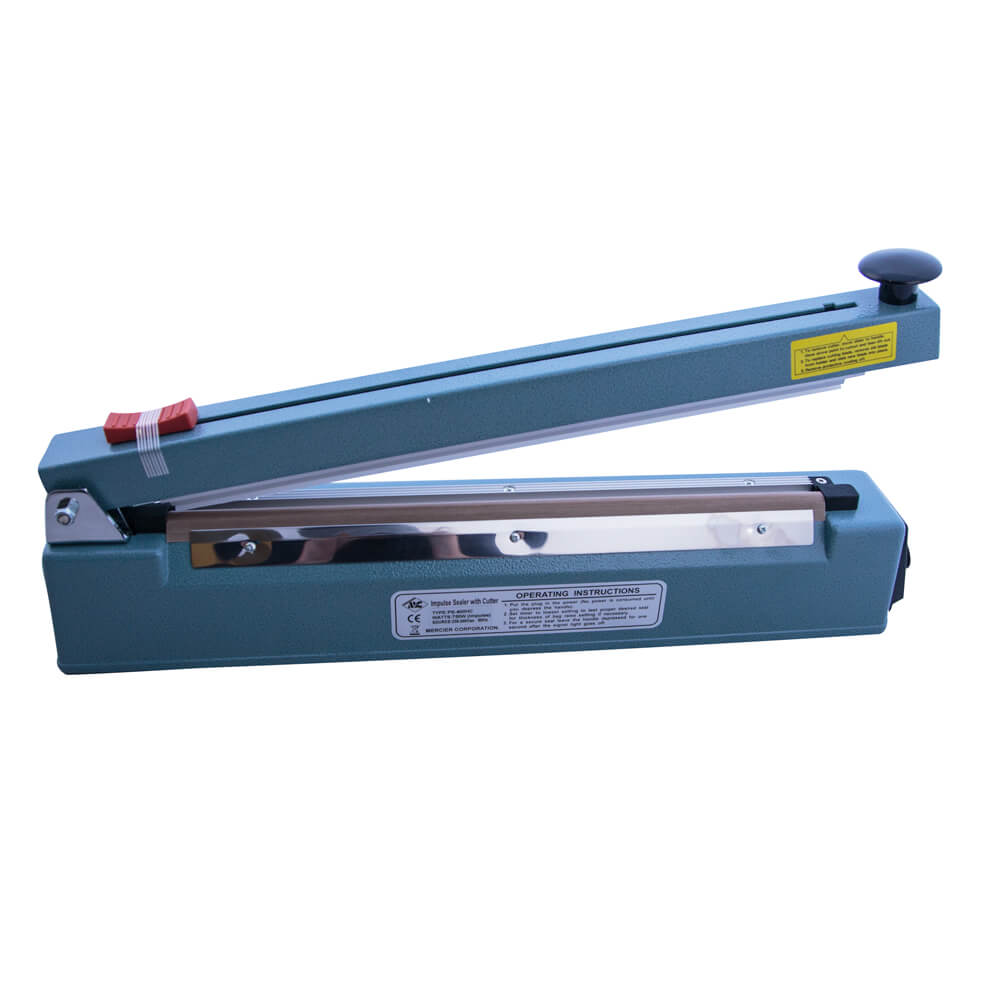HEAT IMPULSE SEALER WITH CUTTER 400MM WIDE