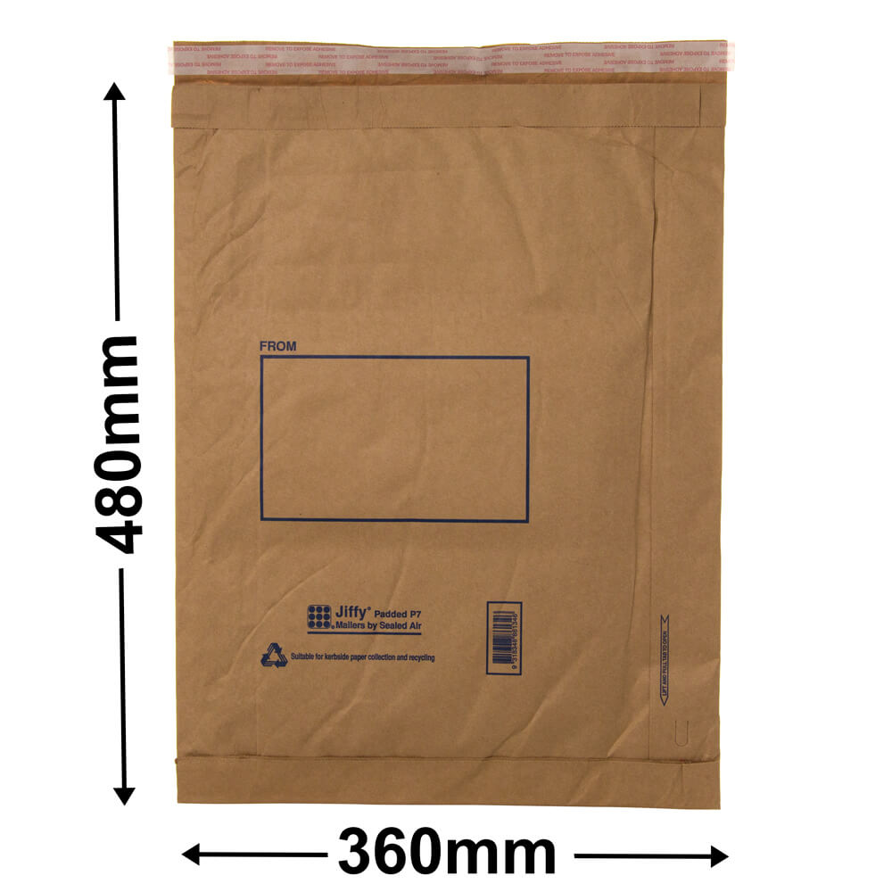 Jiffy Padded Bag - Size 7<br>480 x 360 - *Carton 50*