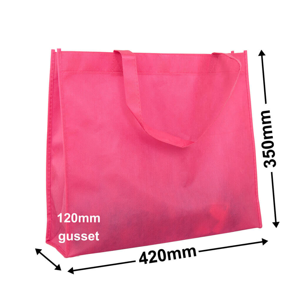 Pink Reusable Non Woven Polypropylene fabric bag