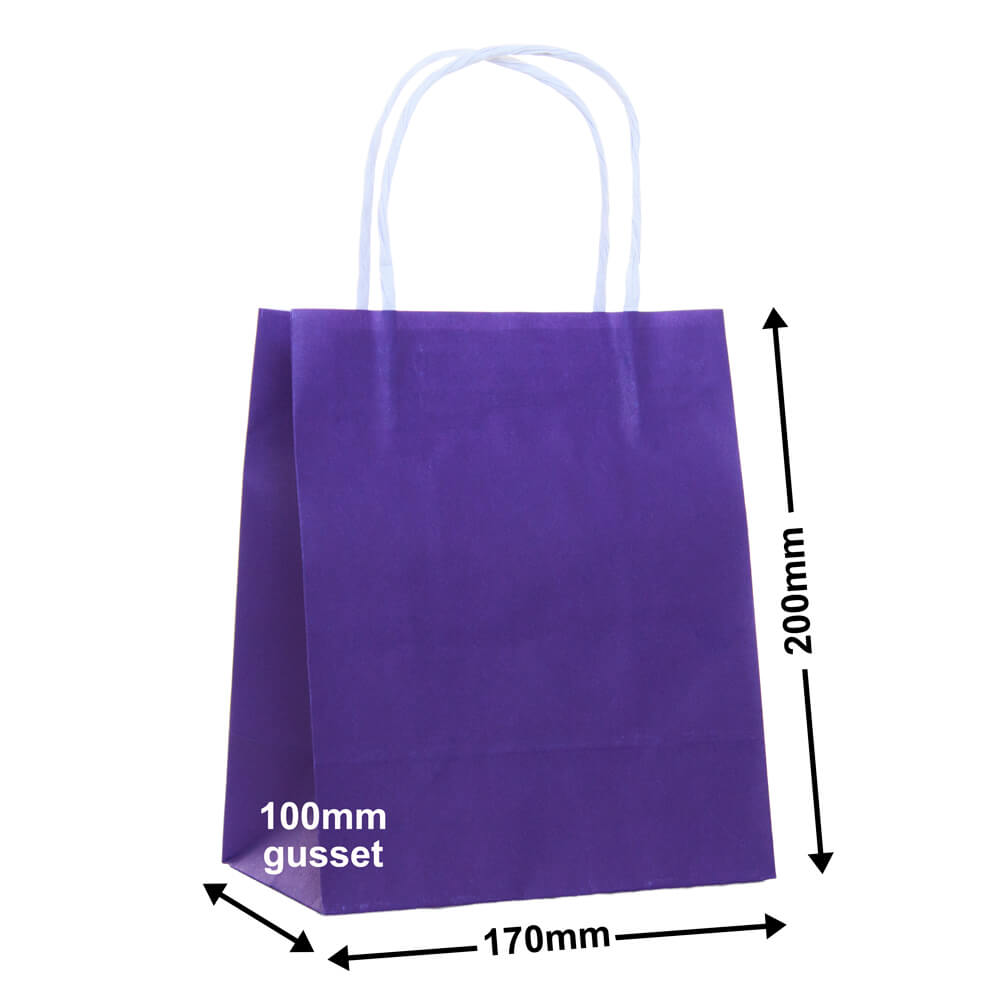 Paper Carry Bag Purple<br>170x200 + 100