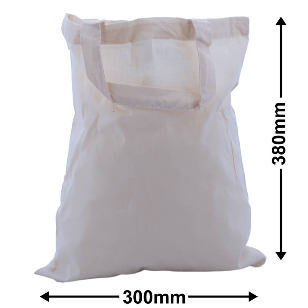 Calico Bags Two Handles 300mm x 380mm (PACK50)