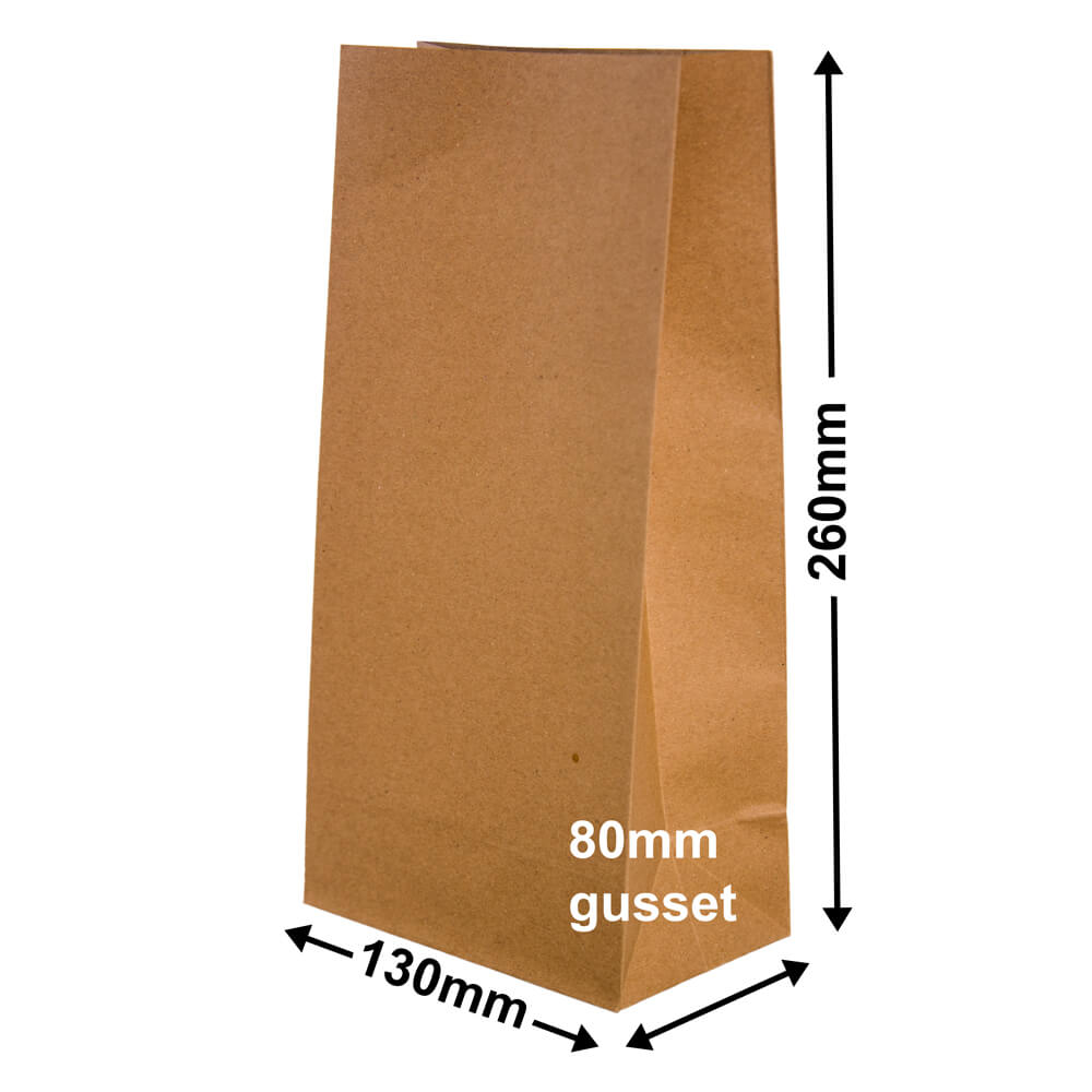 Paper Gift Bags Brown 130x260+80 - no handles