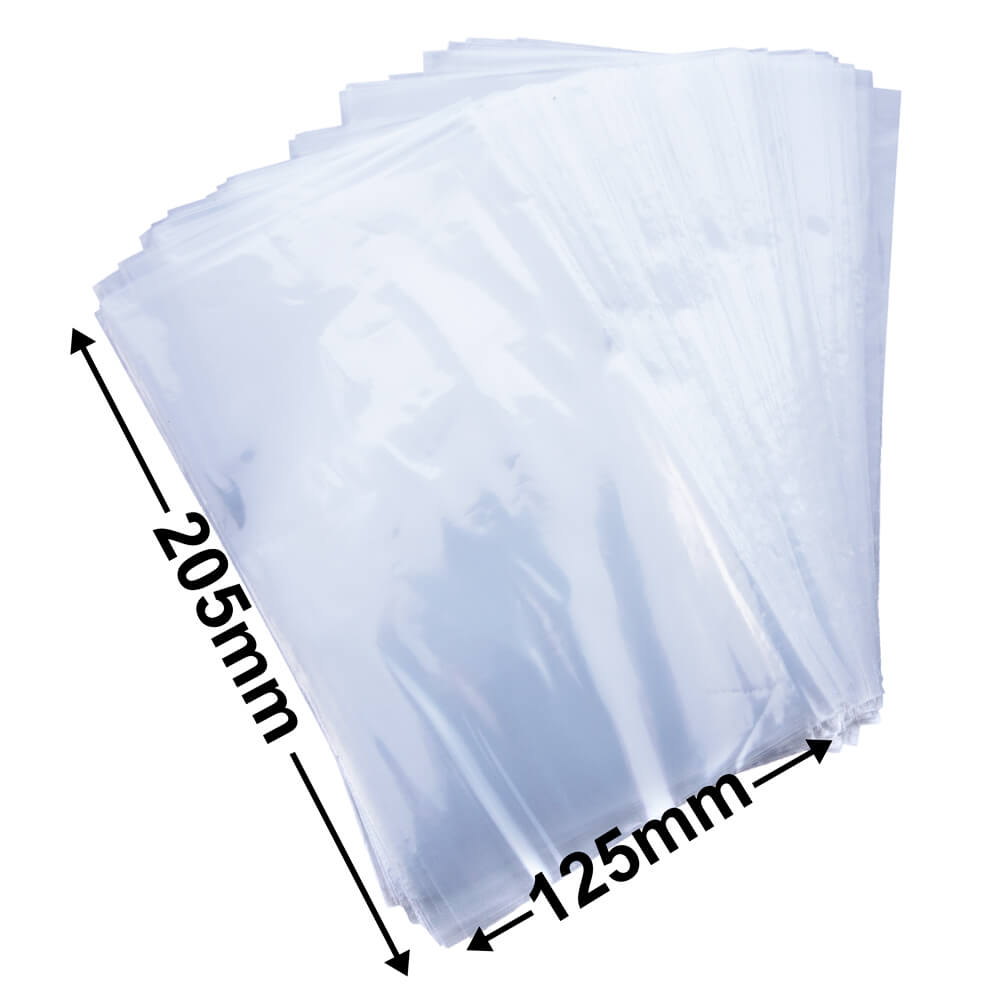Plastic poly bag clear<br>125 x 205 35um