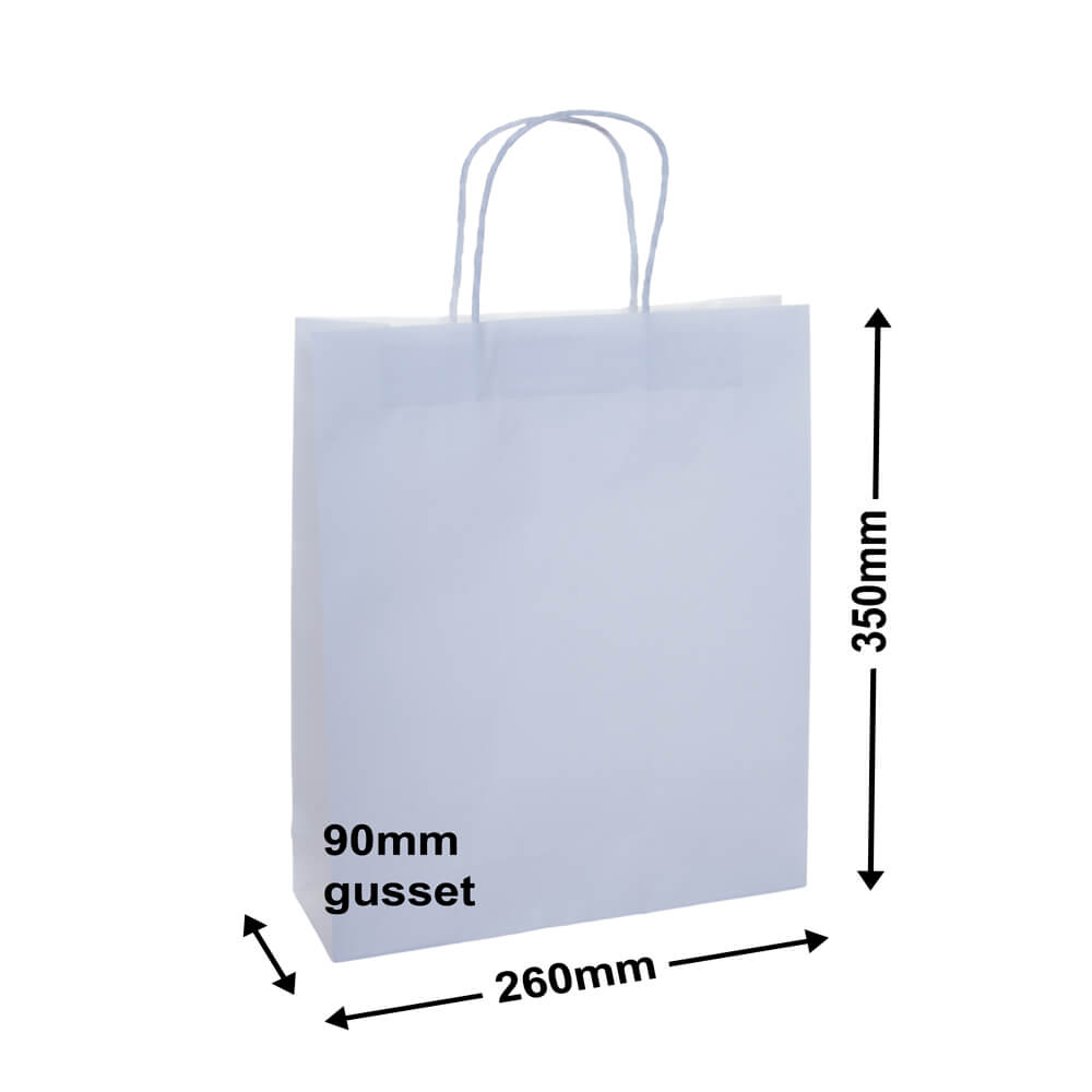 White Paper Retail Bag 260x350+90 *Pack 50*