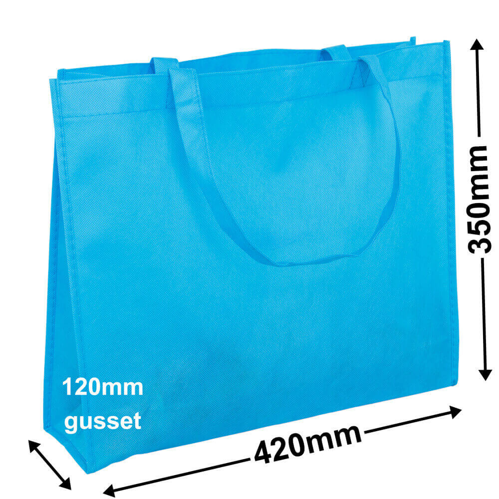 Aqua Blue Reusable Non Woven Polypropylene bag