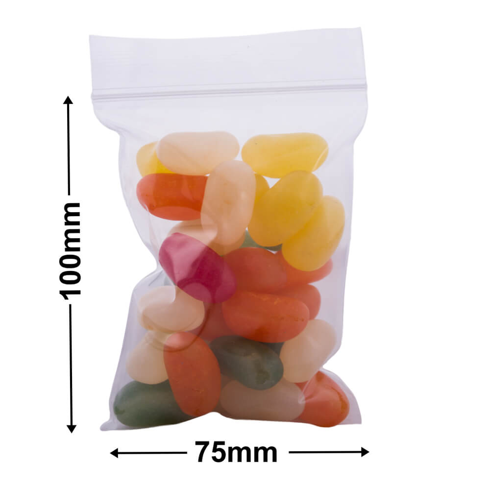 Resealable Press Seal Bags<br>100 x75 mm (4X3