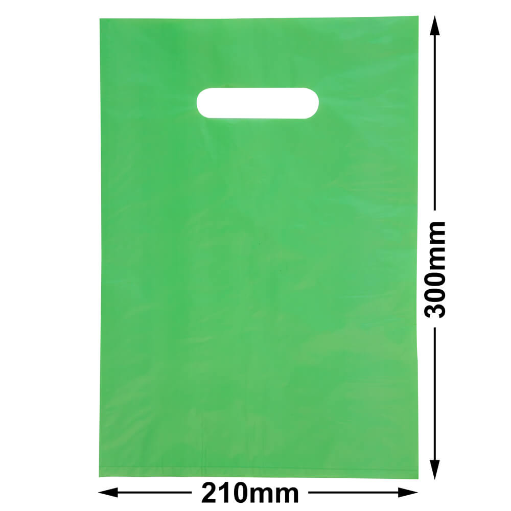 Small Plastic Carry Bag<br>Lime 210 x 300 *Pack 100*