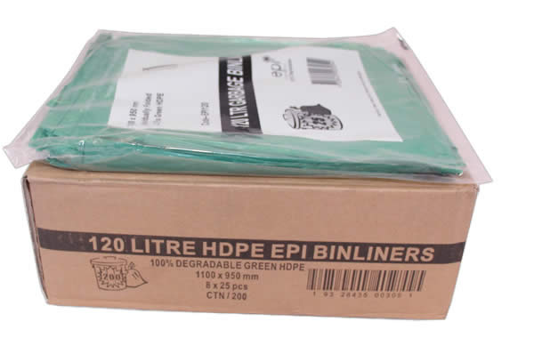 Bin Liner 120 litre EPI  degradable
