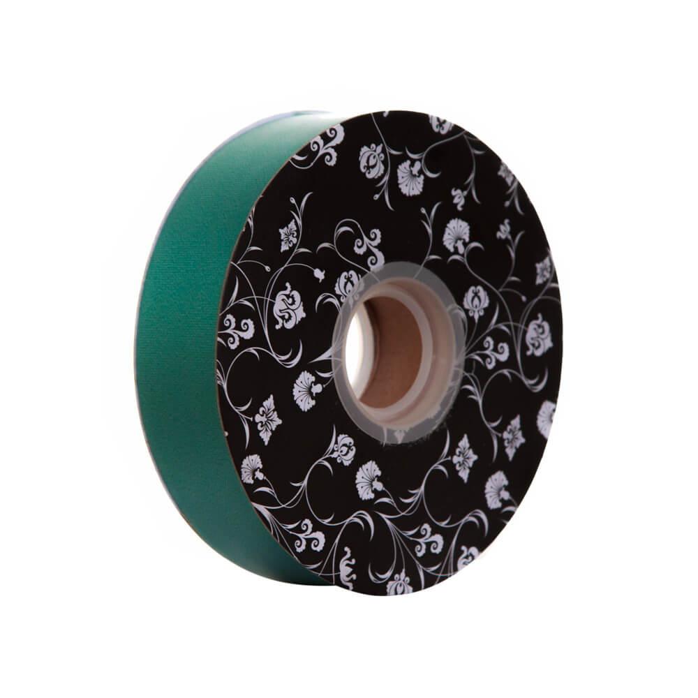 Florist Tear Ribbon<br>Hunter Green<br>30mm wide x 90m per roll