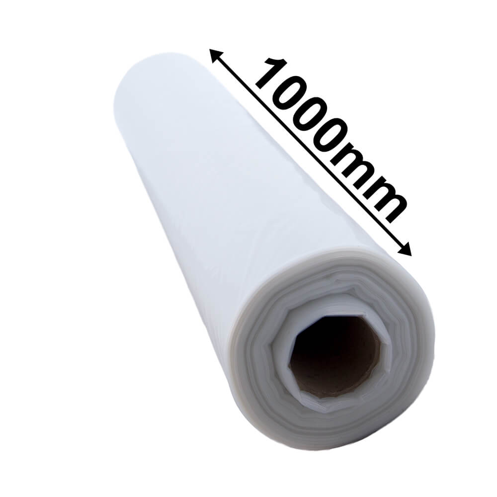 Centrefold Plastic Roll Clear - 100um - 1m opening to 2m