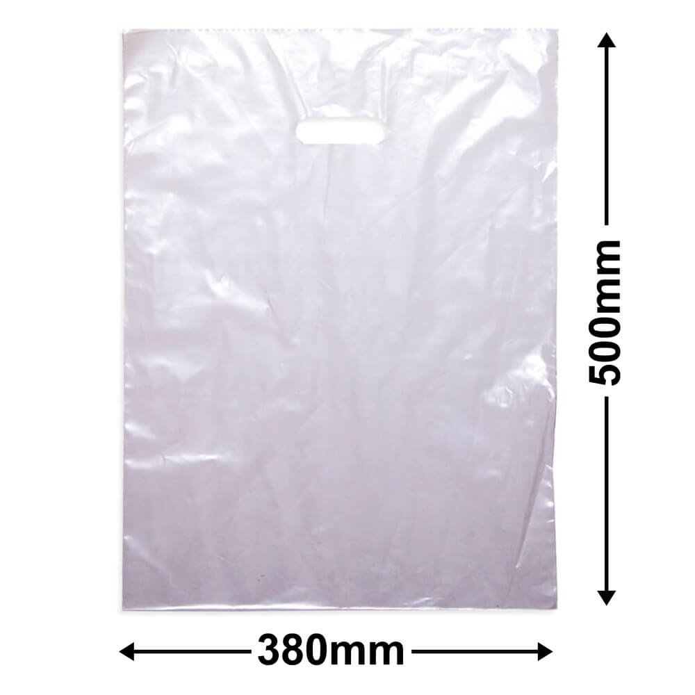 Large Plastic Carry Bag<br>Clear 380 x 500  *Pack 100*