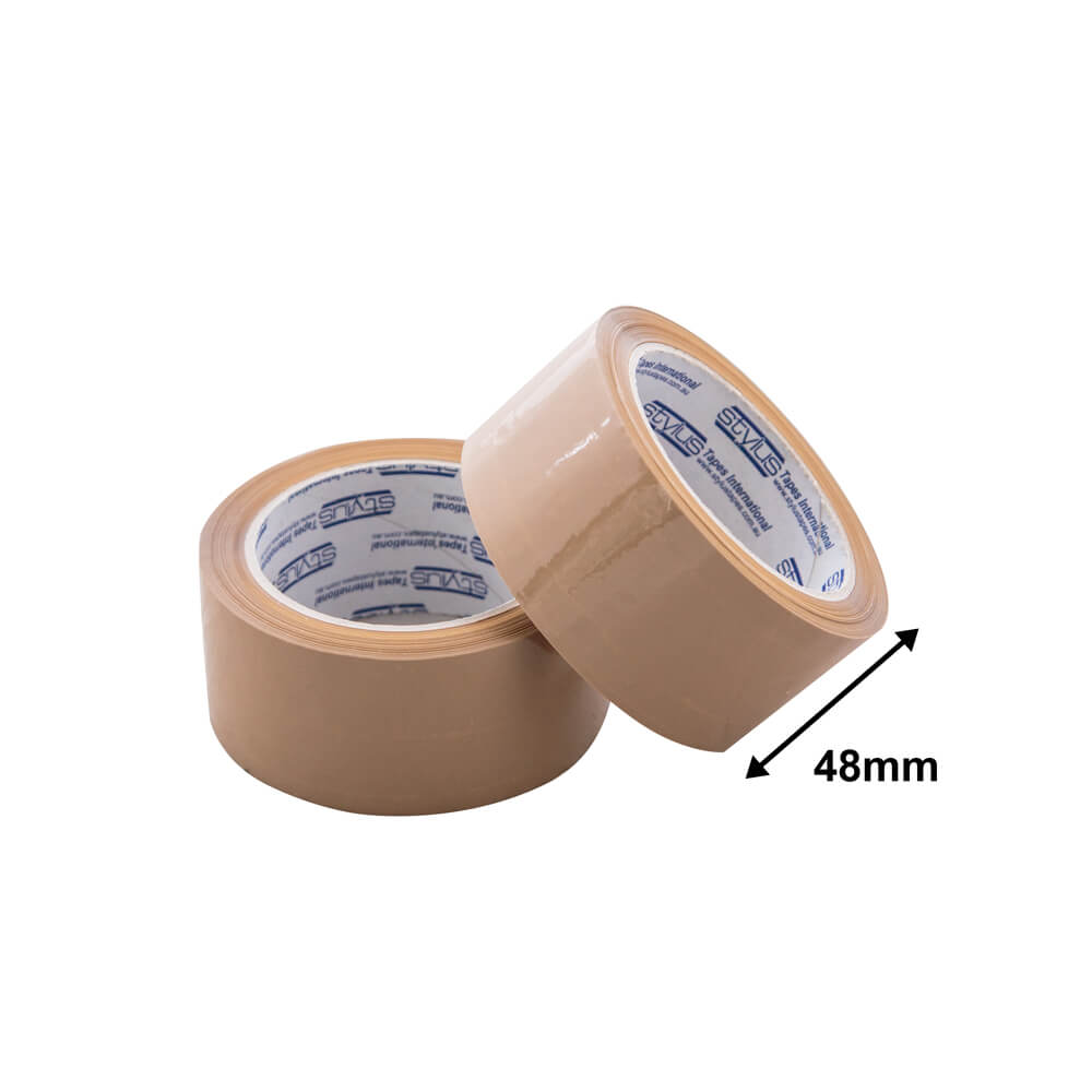 Packaging Tape Hot Melt<br>48mm Brown Premium