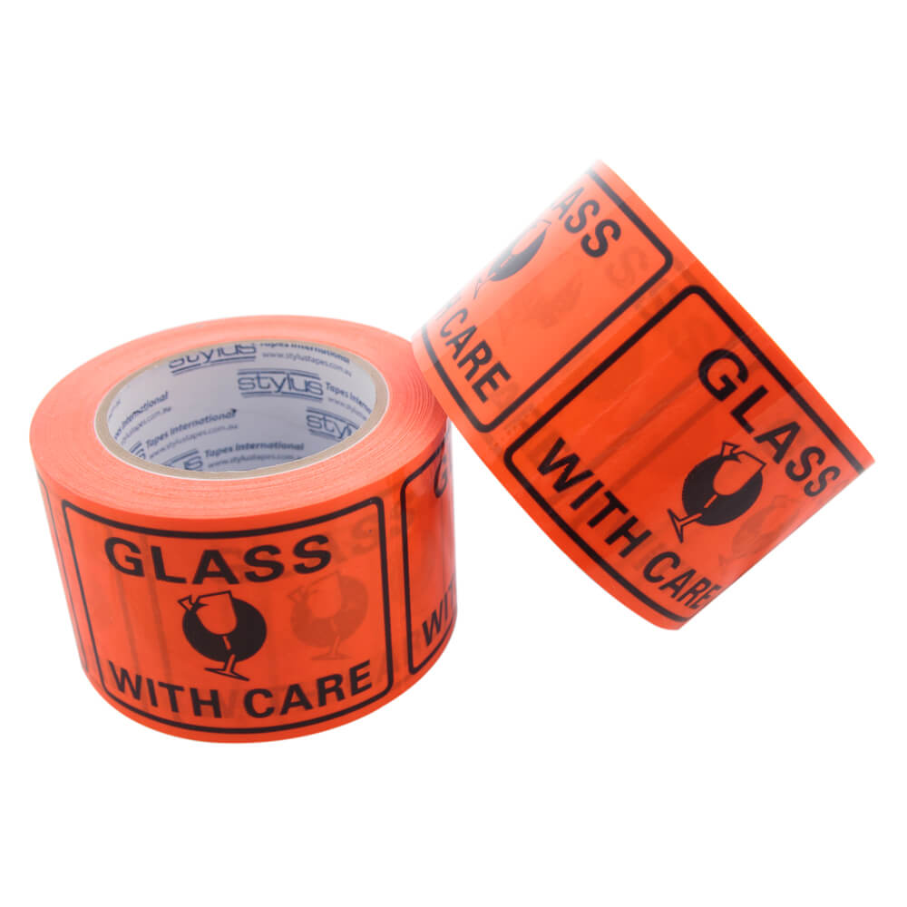 Shipping Labels on roll<br>Glass With Care