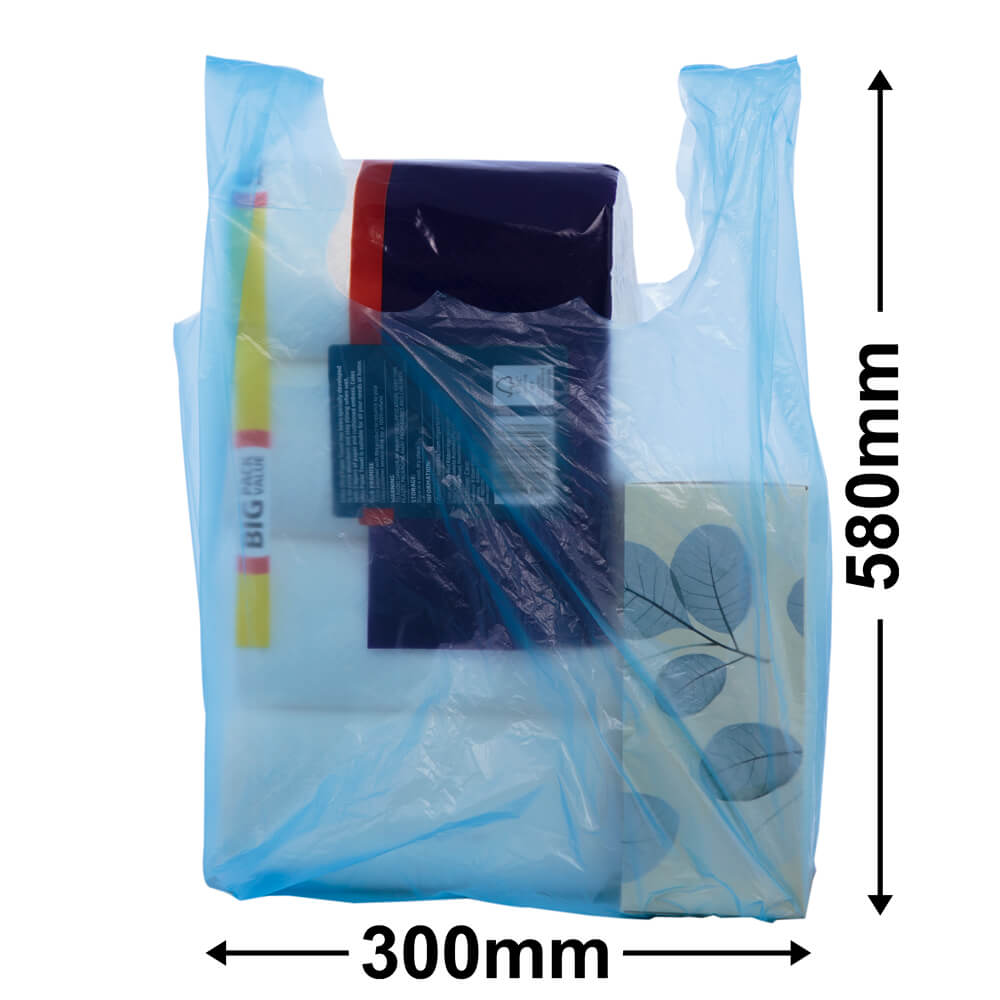 Singlet Checkout Bags<br>Jumbo Blue Carton 1000