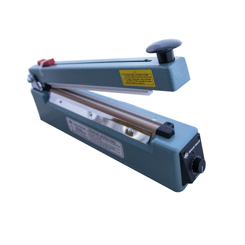 HEAT IMPULSE SEALER WITH CUTTER 300MM WIDE