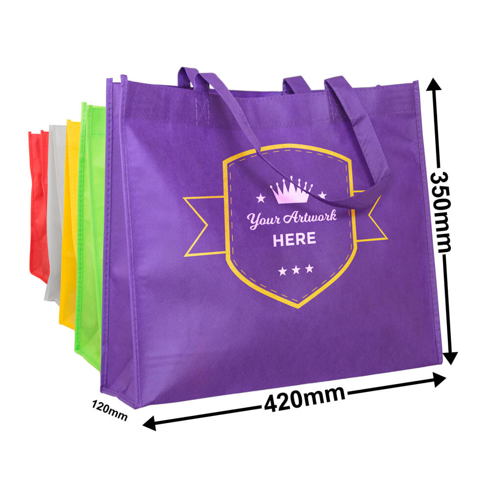 Non Woven Carry Bag<br>Printed 2 Colours 2 Sides