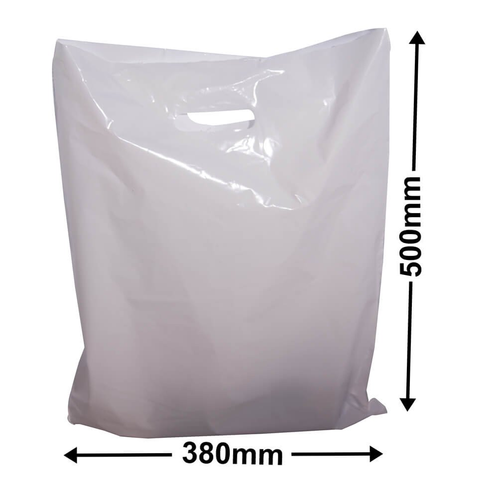 Large Plastic Carry Bag<br>White 385 x 500 *Pack 100*