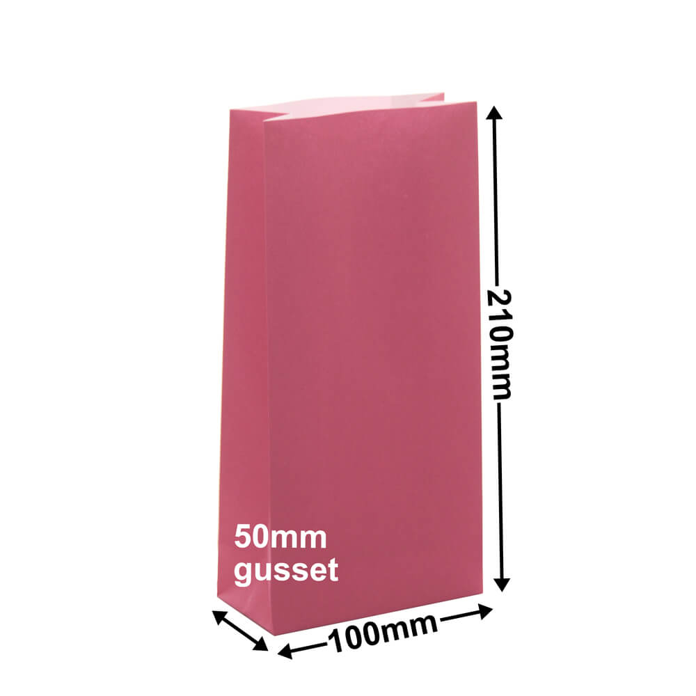 Paper Gift Bags Pink 100x210+50 - no handles