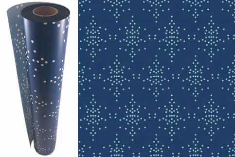 Wrapping Paper Speckle Blue - 60m