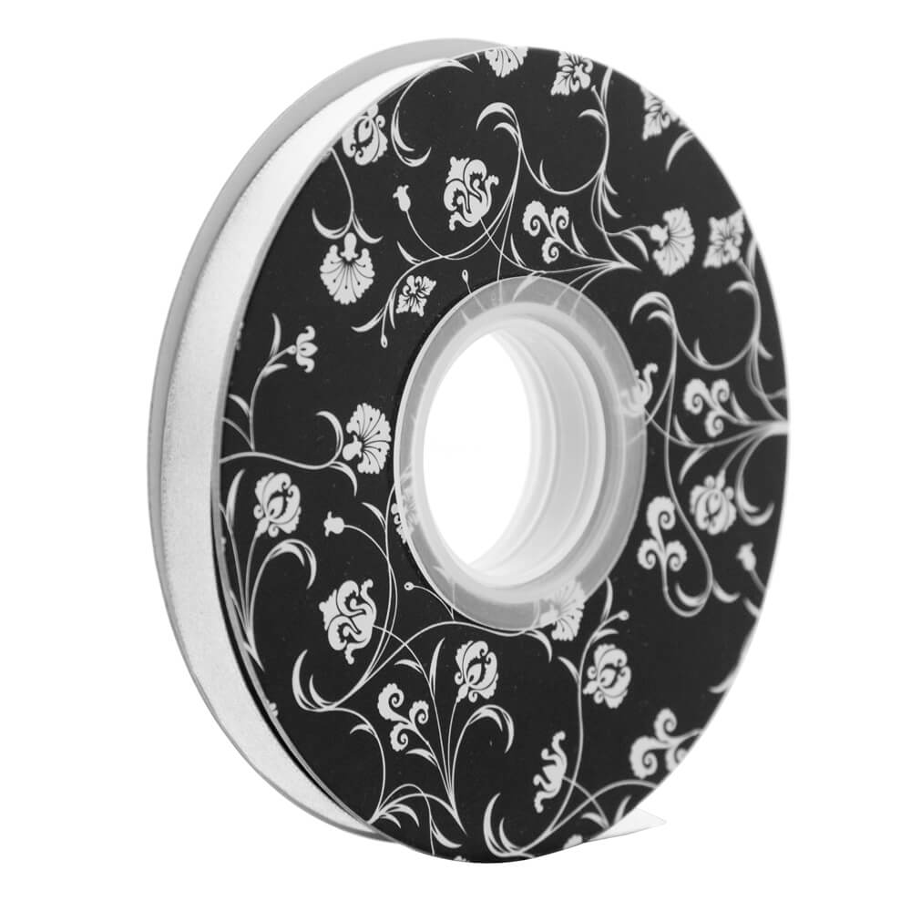 Double sided Satin Ribbon <br>White<br>10mm wide x 30m per roll