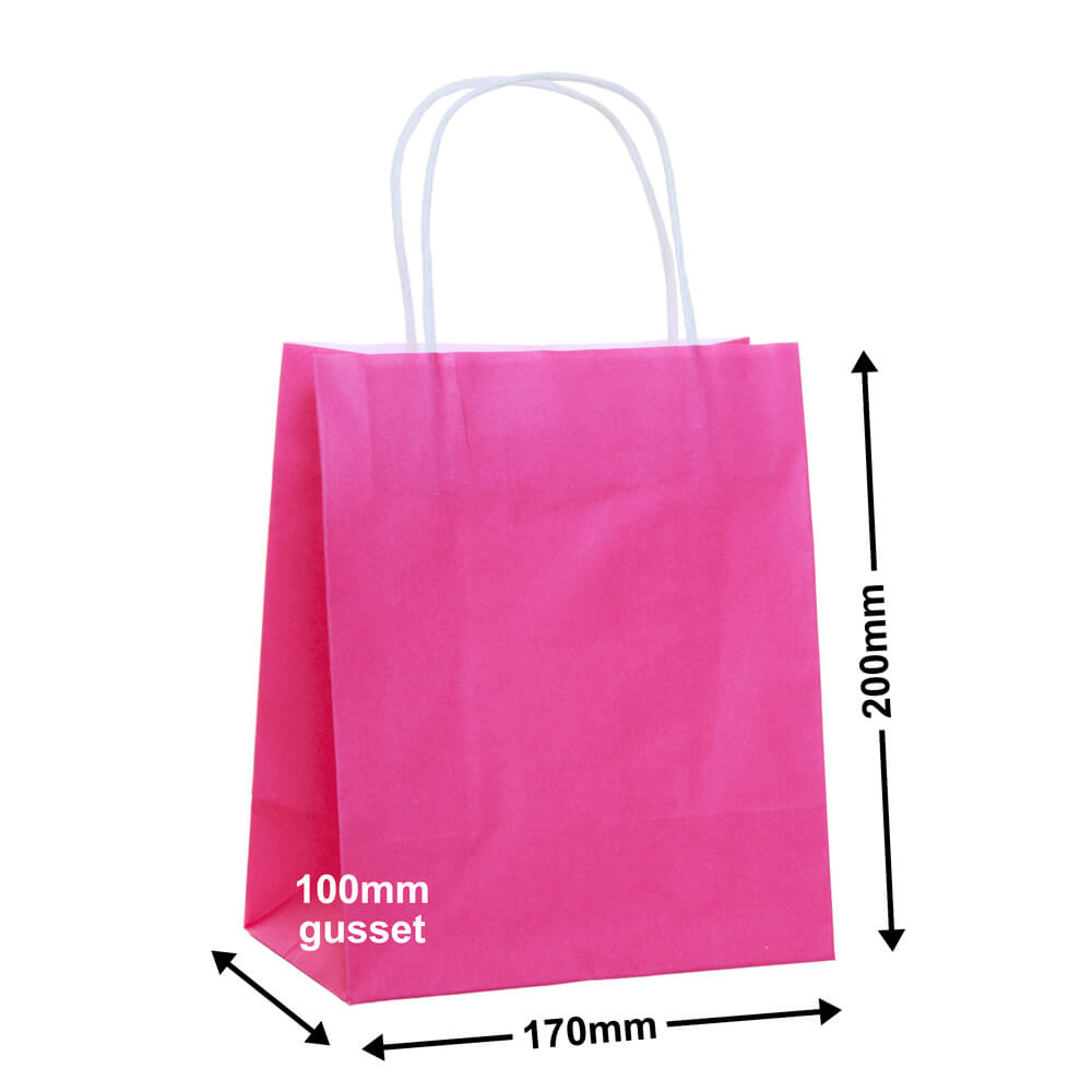 Paper Carry Bag Pink<br>170x200 + 100
