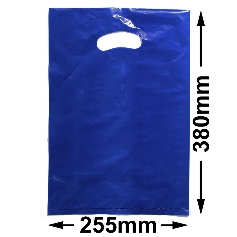 Medium Plastic Carry Bag<br>Blue 255 x 380 *Pack 100*