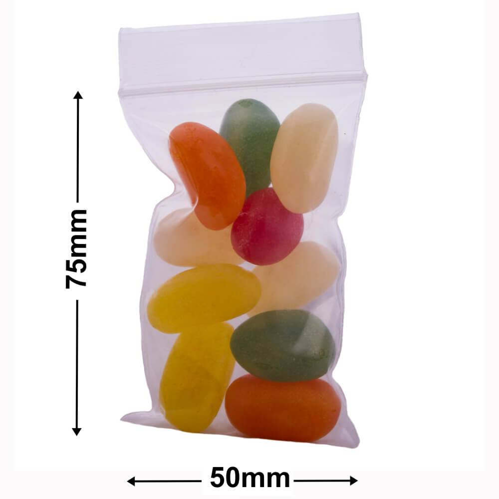 Resealable Press Seal Bags<br>75 x 50mm (3x2