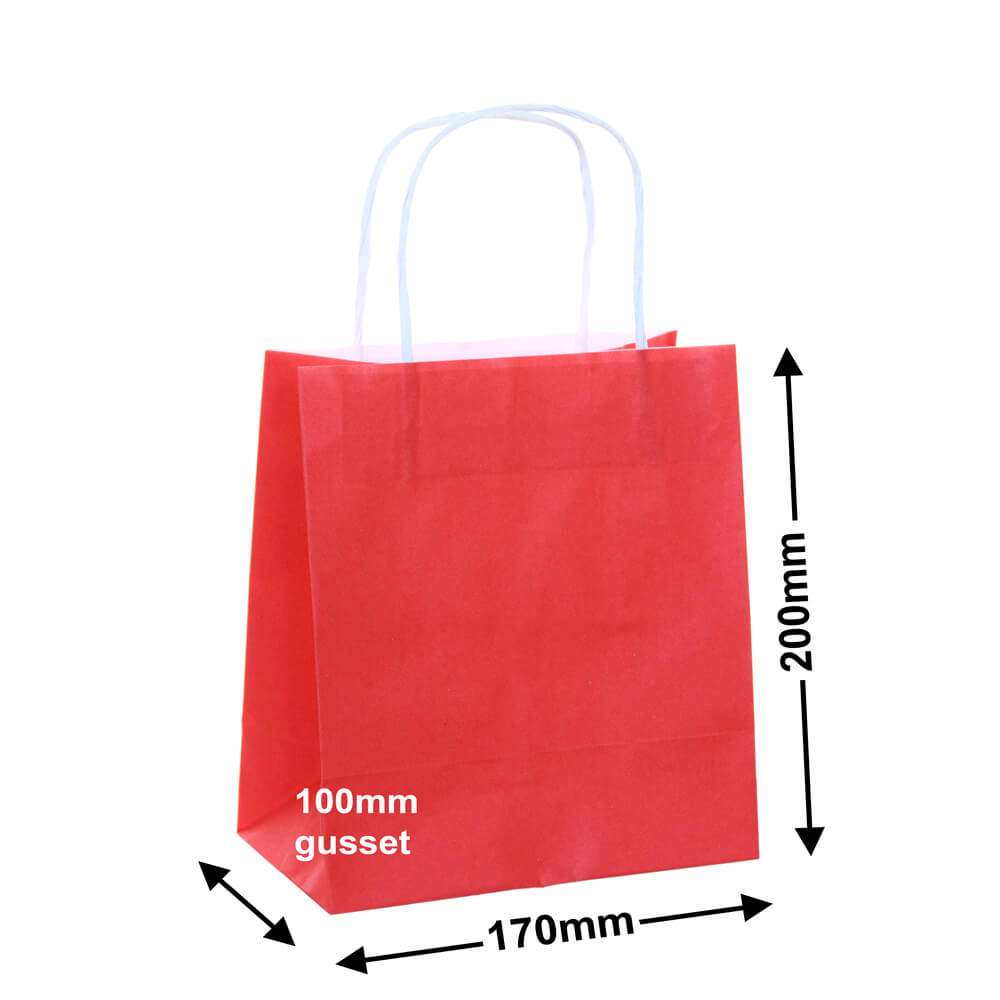 Paper Carry Bag Red<br>170x200+100