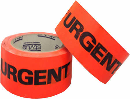 Urgent Warning Tape<BR>48mm x 66m<BR>*WHILE STOCKS LAST*