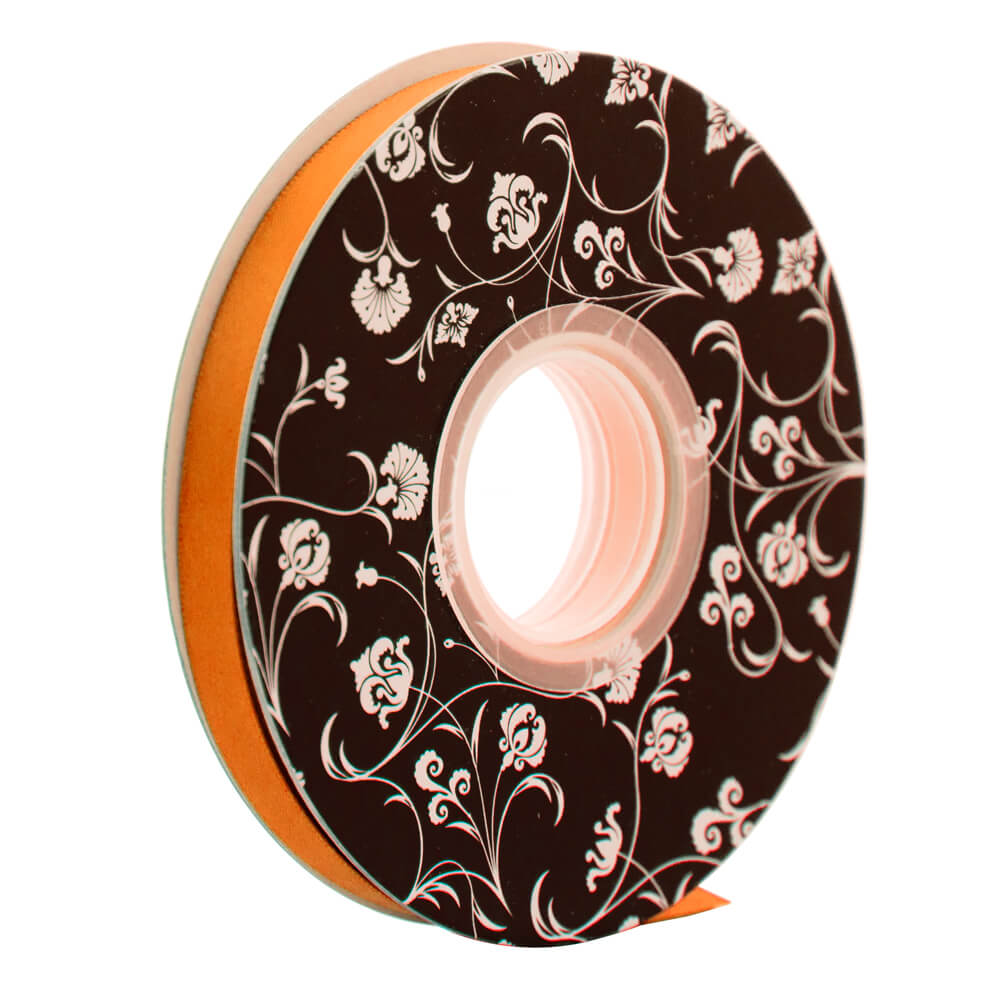 Double sided Satin Ribbon <br>Orange<br>10mm wide x 30m per roll