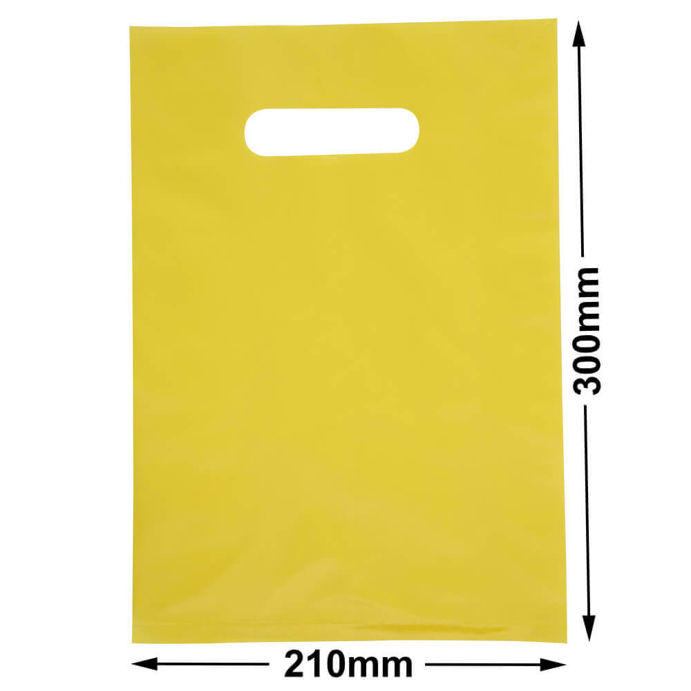 Small Plastic Carry Bag<br>Yellow 210 x 300 *Pack 100*