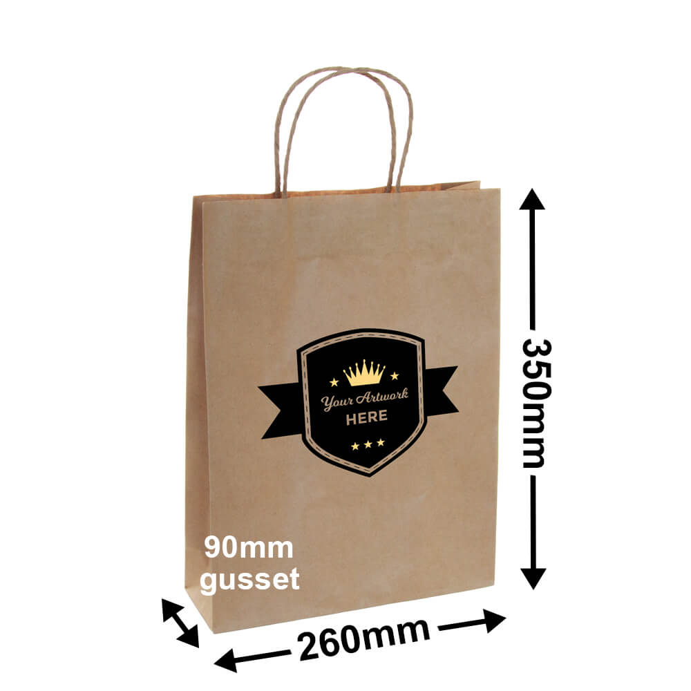 PAPER BAGS Printed 1 Side <br>2 colours (white ink extra)
