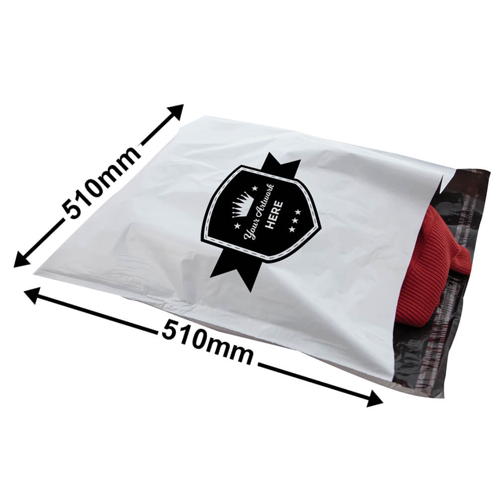 COURIER BAG TAMPER PROOF<br>PRINTED 1 COLOUR 2 SIDES
