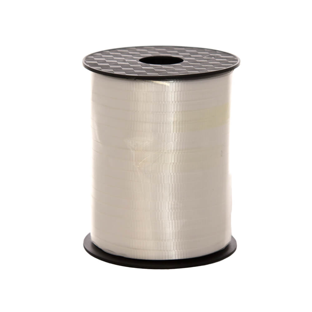 Curling Ribbon White<br>5mm wide x 457m per roll