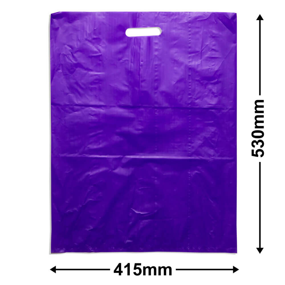 Large Plastic Carry Bag<Br>Purple 415 x 530 *Pack 100*
