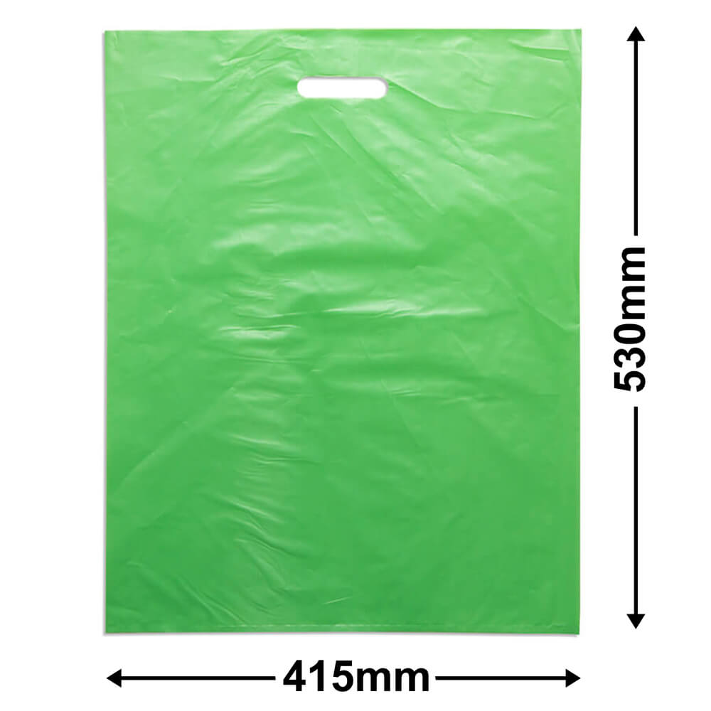 Large Plastic Carry Bag<Br>Lime 415 x 530 *Pack 100*