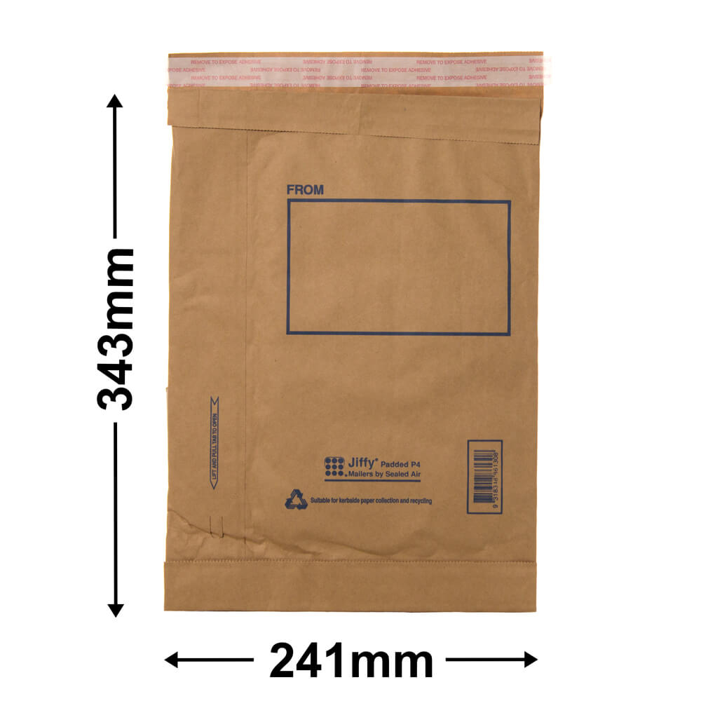 Jiffy Padded Bag - Size 4<br>343 x 241 - *Carton 100*