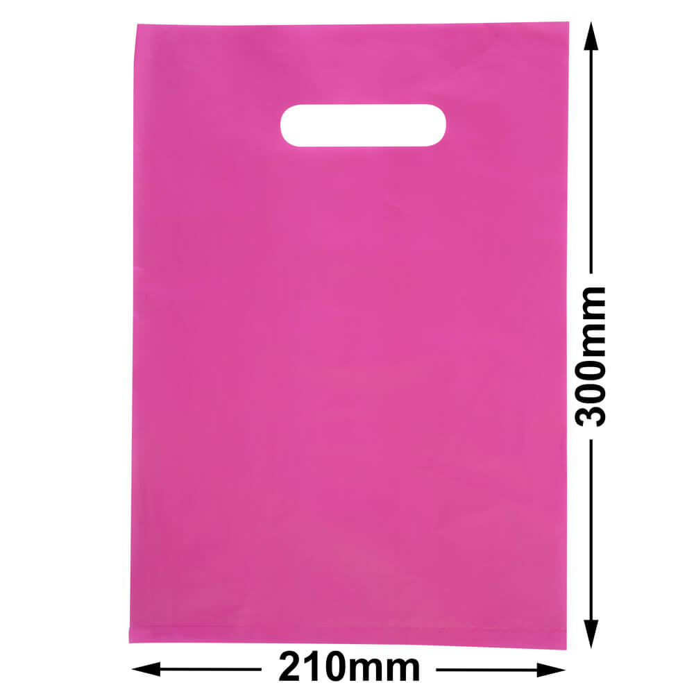 Small Plastic Carry Bag<br>Pink 210 x 300 *Pack 100*