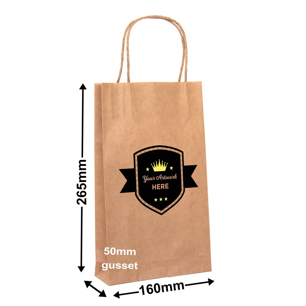 PAPER BAGS Printed 2 Sides <br>2 colours (white ink extra)