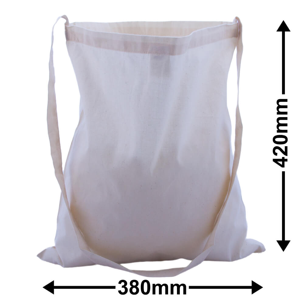 Calico Bags Shoulder Strap 380mm x 420mm (PACK50)