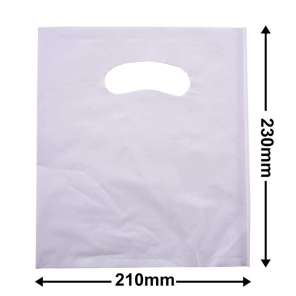X Small Plastic Carry Bag<br>White 210 x 230 *Pack 100*
