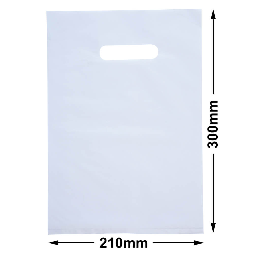 Small Plastic Carry Bag<br>White 210 x 300 *Pack 100*