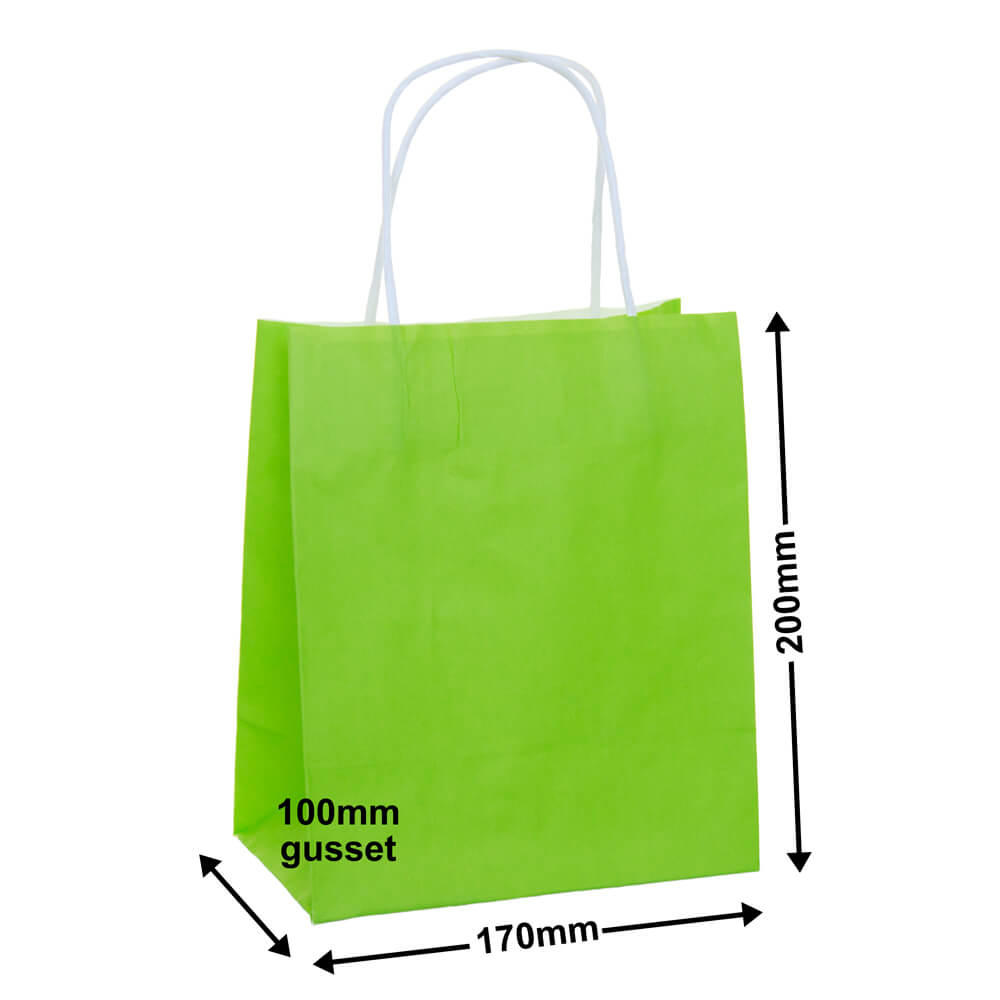 Paper Carry Bag Lime<br>170 x 200 + 100